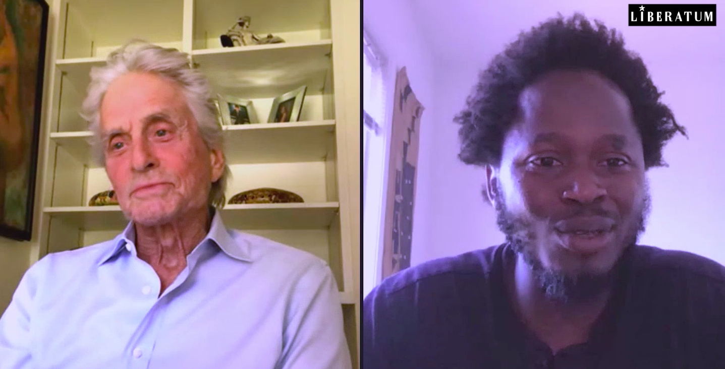 MICHAEL DOUGLAS WITH ISHMAEL BEAH FOR LIFESAVING CONVERSATIONS (USA)